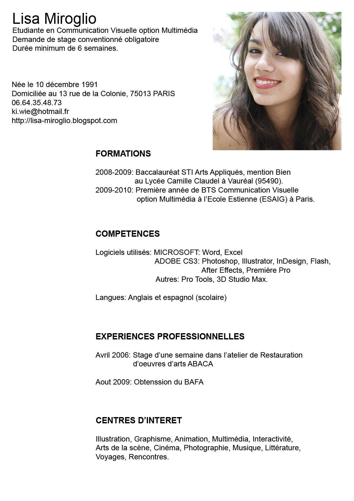 Ejemplos De Curriculum Vitae Jovenes | Resume Pdf Download