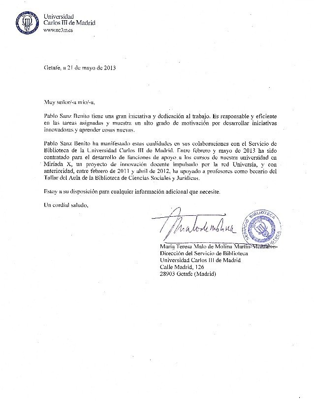 carta de recomendacion personal academica - modelo de carta de