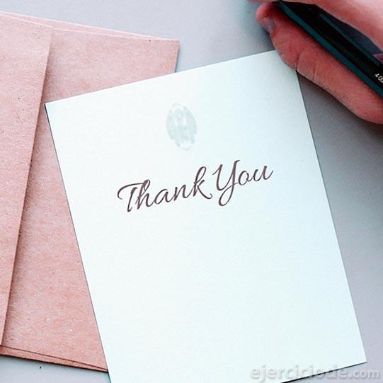 Ejemplos de carta de agradecimiento personal