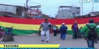 Policía reporta bloqueo del Puente Internacional en Yacuiba por manifestación de 'bagayeros'