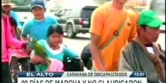 Demandan que se permita el ingreso de discapacitados a plaza Murillo