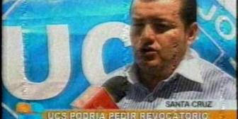 UCS analiza pedir revocatorio para alcalde Percy Fernández