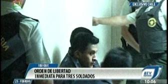 Juez decide dar libertad inmediata a tres soldados bolivianos detenidos en Chile