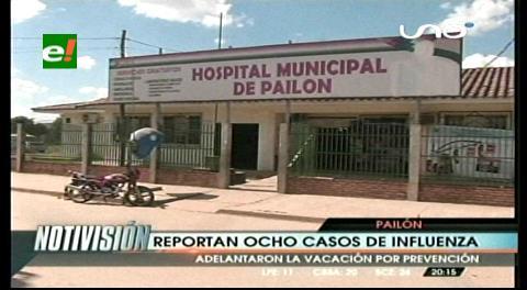 Reportan ocho casos de influenza en Pailón