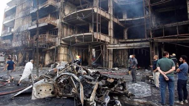 Así quedó el lugar tras el atentado