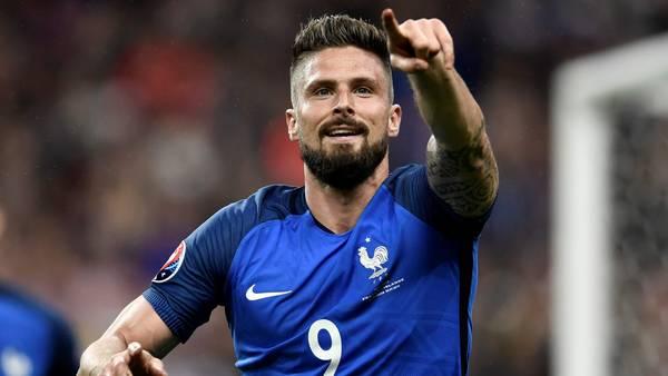 Olivier Giroud grita su segundo gol en la goleada de Francia frente a Islandia, por los cuartos de final de la Euro 2016. (AFP) - PHILIPPE LOPEZ