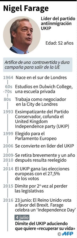 Quién es Nigel Farage./ AFP
