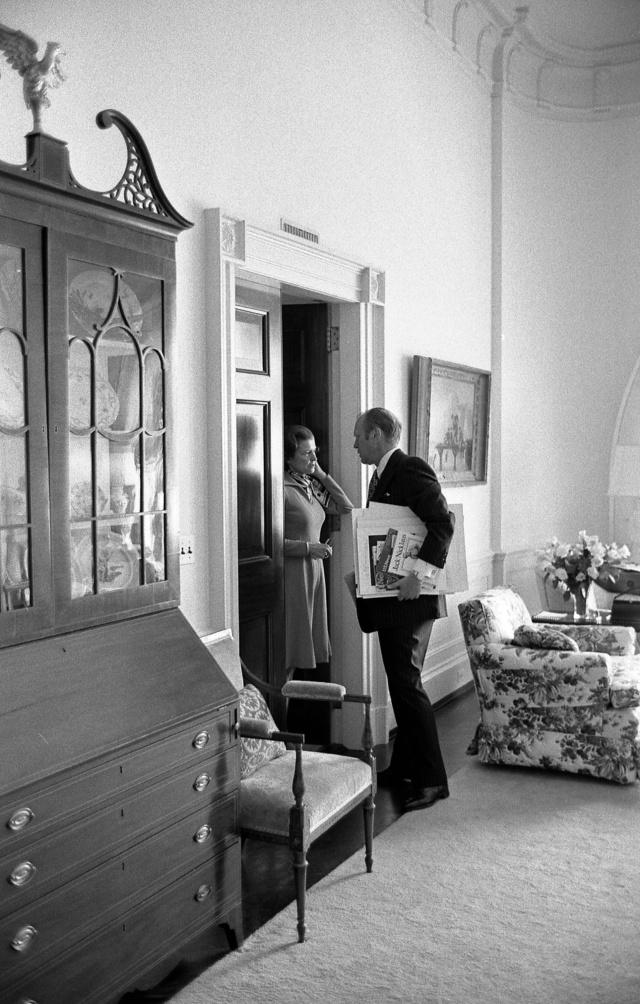 Betty y Gerald Ford en la Casa Blanca en 1975.