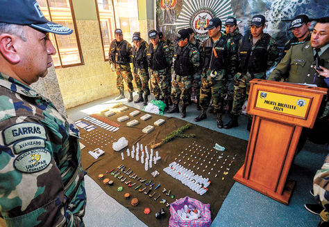 Alerta. La droga incautada por la FELCN en operativos en El Alto.