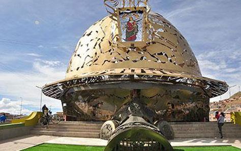 El Casco del Minero ubicado al ingreso de la ciudad de Oruro