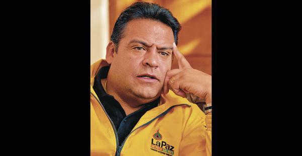 Luis Revilla el alcalde recibió a este medio en el palacio consistorial de La Paz. Fue una charla de media hora