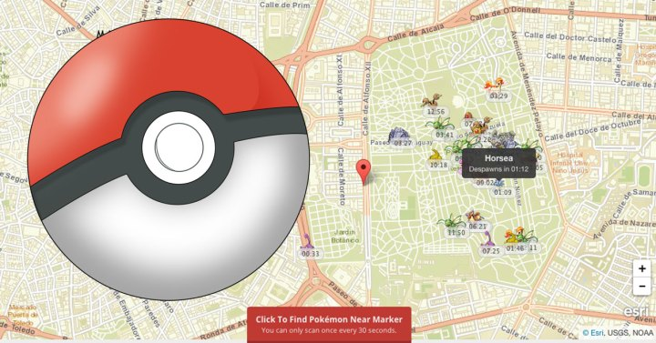 pokemon go pokeball pokevision