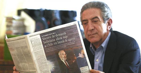 """Jorge Tarud asegura que Chile no """"regalará"""" su territorio a otro país, en alusión al pedido boliviano"""