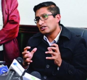 Fiscal de La Paz anuncia aprehensión de Achacollo si no justifica su inasistencia a declarar