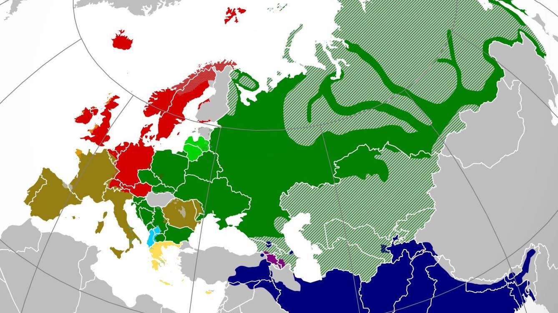 Foto: Mapa de la distribución actual de las lenguas indoeuropeas. (CC)