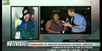 Familiares de menor brutalmente golpeado exigen justicia