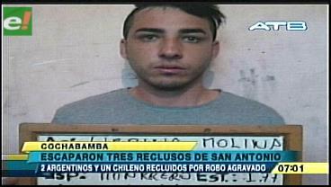 Tres reclusos fugaron del penal de San Antonio