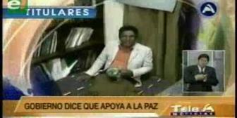 Titulares de TV: Gobernador Patzi recibe críticas y apoyo frente a su huelga de hambre