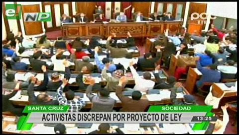 Activistas discrepan por proyecto de ley