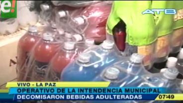 Intendencia paceña decomisa más de 4 mil botellas de bebidas adulteradas