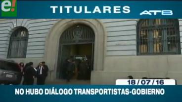 Titulares de TV: Transporte pesado no acudió al diálogo convocado por el Gobierno