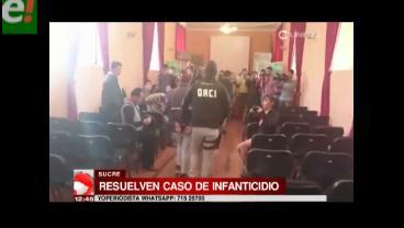 Detienen a pareja en Sucre que tenía el cadáver de su bebé en su domicilio