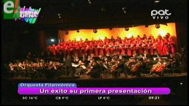 Éxito total en el debut de la Orquesta Filarmónica de Santa Cruz