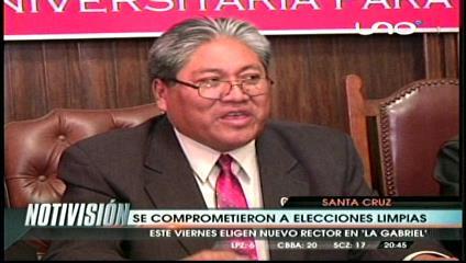 Candidatos en la Uagrm se comprometen a respetar resultados de la elección