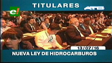 Titulares de TV: Habrá nueva Ley de Hidrocarburos a partir del 2017, incluirá beneficios a las petroleras