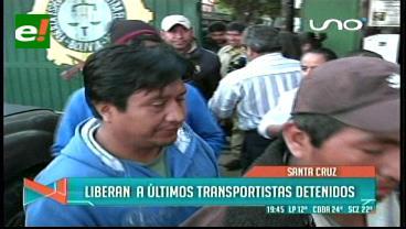 Juez liberó a 15 transportistas detenidos en la Felcc