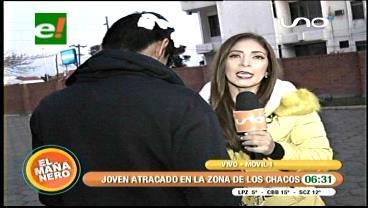 Los Chacos: Antisociales armados atracan a un joven en una plazuela