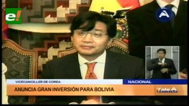 Corea interesada en cooperar en el desarrollo de industrias bolivianas