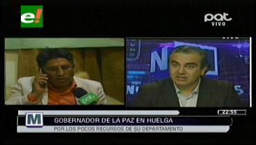 Ministro Siles revela que el gobernador Patzi solo ejecutó el 37% de recursos