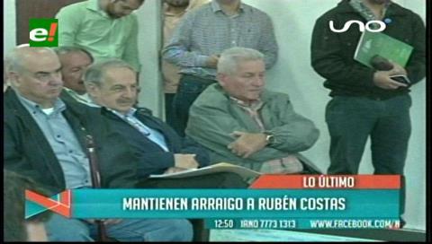 Rechazan apelación del gobernador de Santa Cruz, Rubén Costas