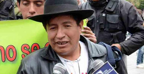 El opositor Rafael Quispe dice temer por su vida ante la advertencia de Nemesia Achacollo