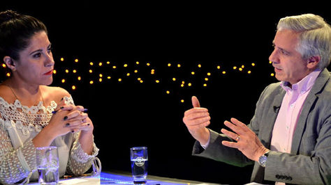 García durante su participación en la entrevista de domingo
