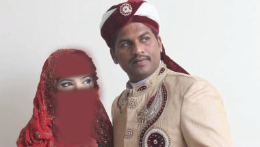 Naveed Ashraf con su esposa, Shawana era una pareja de recién casados que murió en los ataques de Lahore, Pakistán. Esta imagen ha sido editada a petición de la familia de las víctimas para proteger su privacidad.