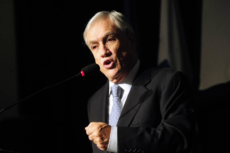 El expresidente de Chile, Sebastián Piñera, durante una conferencia en Buenos Aires el 4 de abril de 2016.