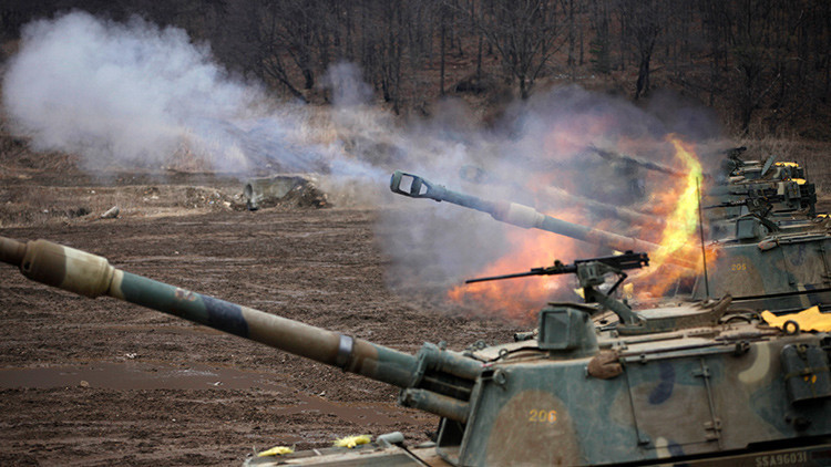 Fuego de obuses autopropulsados