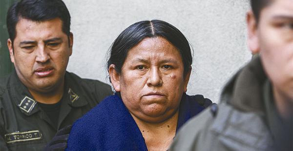 La extitular del Ministerio de Desarrollo Rural y Tierras se encuentra detenida en la ciudad de La Paz