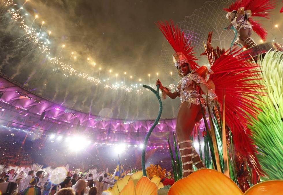 Un momento de la ceremonia de clausura de los Juegos Olímpicos de Río 2016.