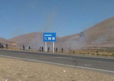 La Policía en Panduro. Foto: Yury Flores