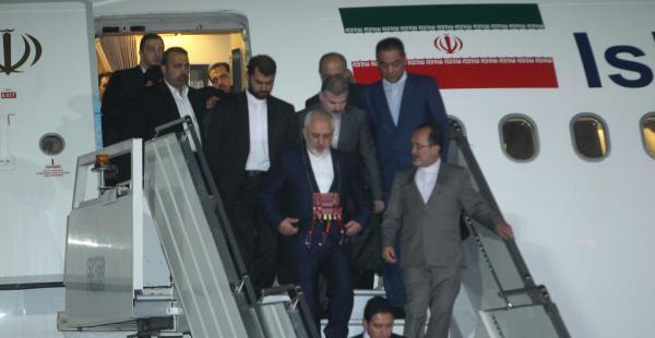 Mohammad Javad Zarif fue recibido por el canciller boliviano David Choquehuanca