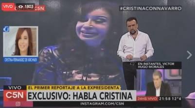 La ex presidenta con Navarro.