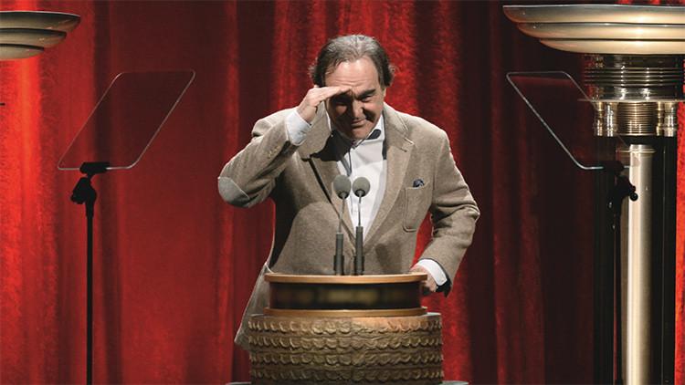 El director de cine estadounidense Oliver Stone