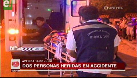 Dos personas resultaron heridas en accidente de moto