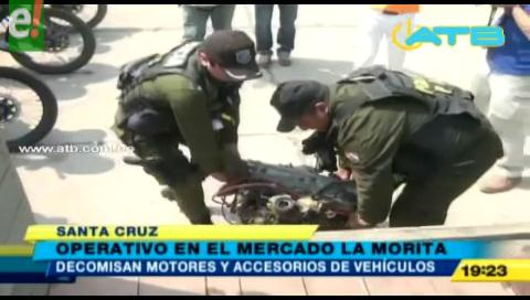 Decomisaron motores y piezas de vehículos en La Morita