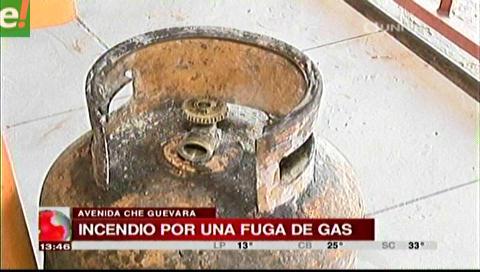 Fuga de gas causó un incendio en un restaurante