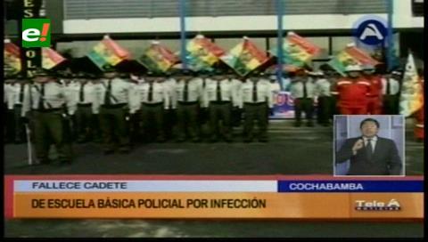 Cochabamba: Fallece cadete de la Escuela Básica Policial por una infección