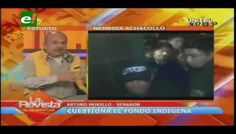 """Senador Arturo Murillo: """"Arce debería estar en la cárcel con Achacollo"""""""
